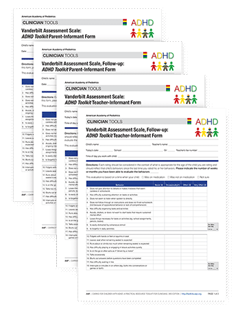 ADHD Vanderbilt Assessment Forms