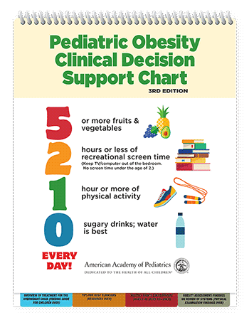 5210 Pediatric Obesity Clinical Decision Support Chart 3rd Edition Paperback Aap